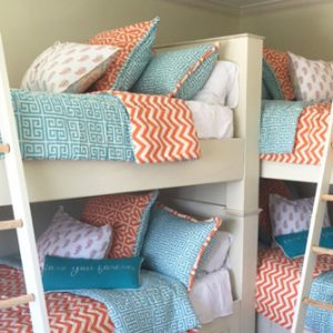 """Going Greek"" Tailored Bunk Bed Hugger Comforter"