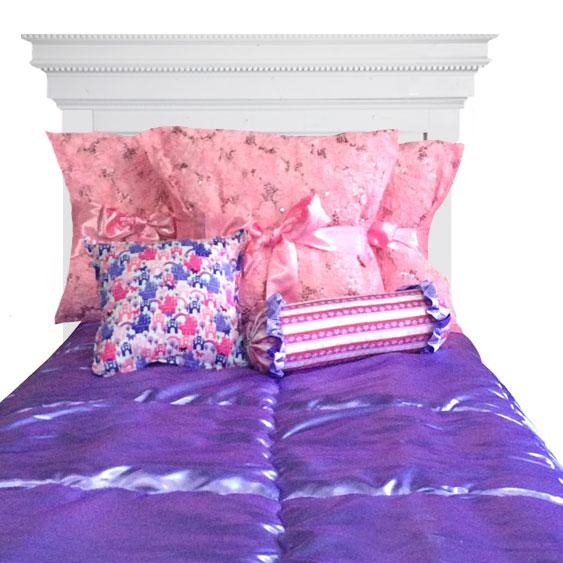 Hannah Princess Satin Bunk Bed Hugger Comforter Bedding For Bunks