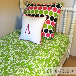 """Juliet"" Damask Fitted Bunk Bed Hugger Comforter"
