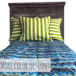 """Noah"" Chevron Tailored Bunk Bed Comforter"