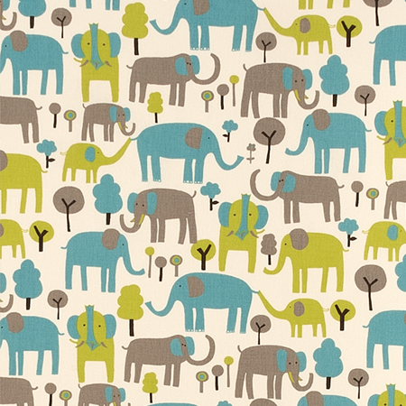 Custom Elephant Fabric for Kids Bedding