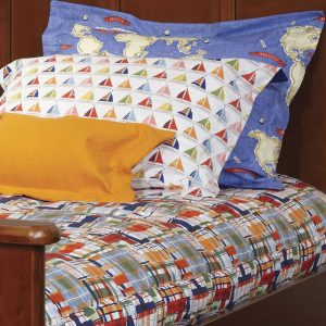 Boys Plaid Bunk Bed Bedding with Micheal Miller Fabric