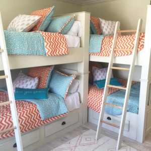 """Mandarin Blues"" Bunk Bed Bedding"