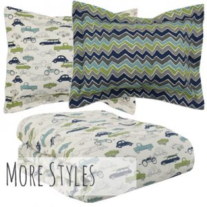 """Liam"" Vintage Cars and Trucks Tailored Bunk Bed Comforter"