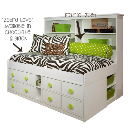 Zebra Love Custom Bunk Bed Bedding