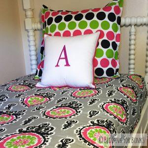 """Mia"" Ikat Bunk Bed Hugger Comforter"