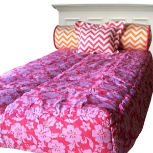 Hawaiian Surfer Girl Bed Hugger