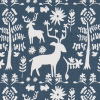 Bunk Bed Bedding Fabric - Promised Land in Navy