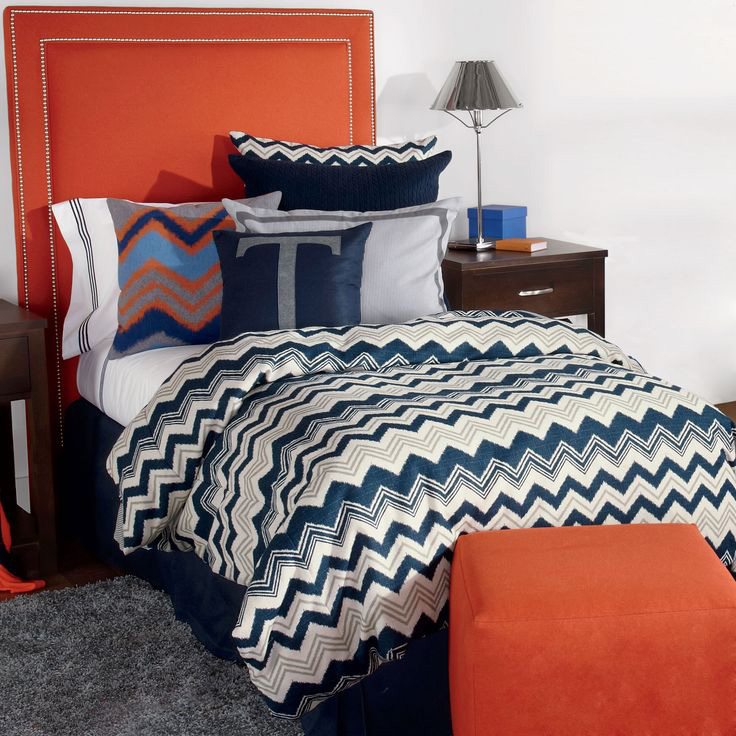 Silas Ikat Chevron Tailored Bunk Bed Comforter Bedding For Bunks