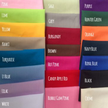 Solid Fabric Colors for Bunk Bed Bedding