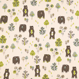 Bear Fabric for Custom Bedding