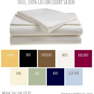 Bunk Bed Sheets in 100% Cotton Sateen