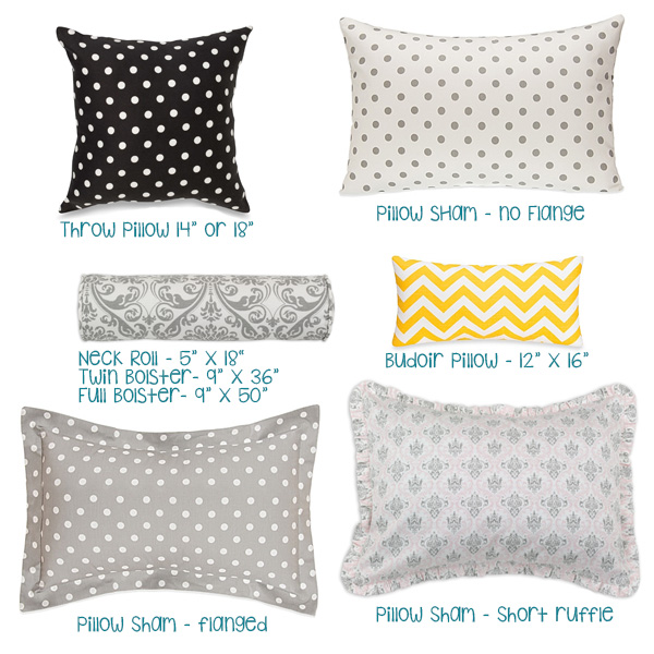 Types of Custom Pillows for Bedding
