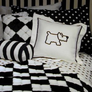 """Brooklyn"" Scottie Dog Tailored Comforter"