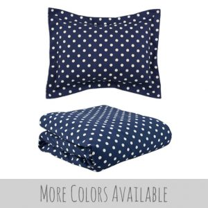 """Riley"" Ikat Dots Tailored Bunk Bed Comforter"