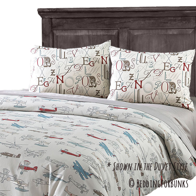 Custom Fabric For Bedding: Airplane Cotton Sheets At Alzheimers-prions.com