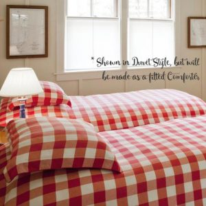 """Mad About Plaid"" Gingham Fitted Bunk Bed Comforter"