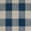 "Navy - 3"" Plaid on Linen"