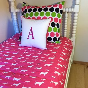 """Puppy Love"" Dog Custom Fitted Comforter"