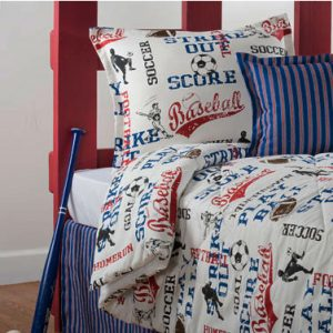 """All American"" Sports Fitted Bunk Bed Comforter"