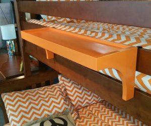 orange bunk bed shelf