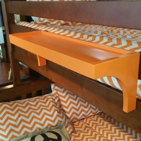orange bunk bed shelf