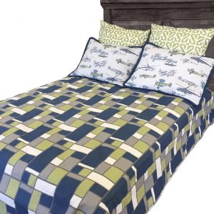 """Sam"" Geometric Boxed Tailored Bunk Bed Comforter"