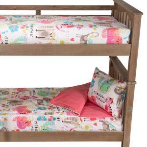 """Purrty Cat"" Zipper Comforter with Sham – Bunk Bed Bedding Set"