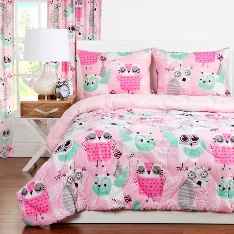 Quot Night Owl Quot Zipper Comforter With Sham Bunk Bed Bedding
