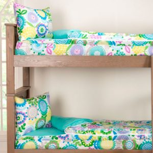 """""""Pansy"""" Zipper Comforter with Sham – Bunk Bed Bedding Set"""