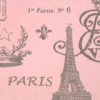 Bunk Bed Bedding - Paris French Stamp in Bella Storm
