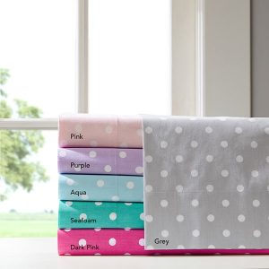 Polkadot Print Inseparable Sheet Set – 100% Cotton Percale 180TC