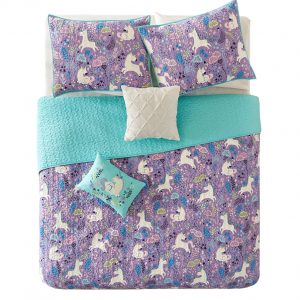 Magical Unicorn Coverlet Set with Sham and Pillows