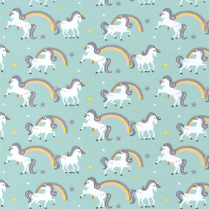 Bunk Bed Bedding - Unicorn & Rainbows Fairytale Fitted Hugger Comforter