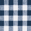 Buffalo Plaid in Italian denim (color, not fabric) Slub Canvas