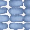 Bunk Bed Bedding Fabric - Shibori in Sky - Slub Canvas